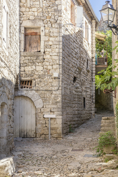 Alleyway in Balazuc, France (Ardeche district) Stock photo © haraldmuc