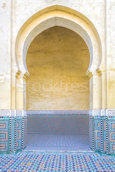 Arco Marrocos projeto arte portão Foto stock © haraldmuc