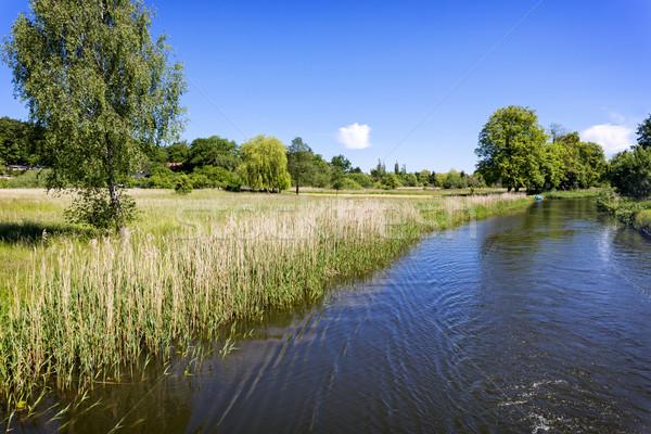 Scenic canal near Templin city, East Germany Stock photo © haraldmuc