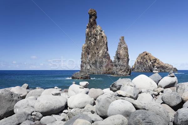 岩 ポルトガル 海岸 風景 美 海 ストックフォト © haraldmuc