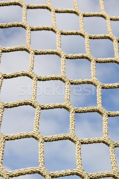 скалолазания чистой облачный небе сеть синий Сток-фото © haraldmuc