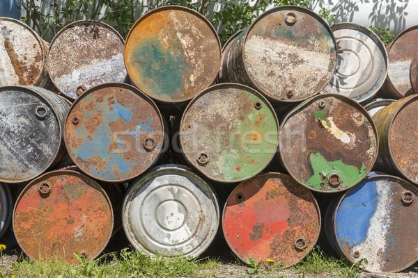 пусто нефть ржавые выветрившийся фон промышленных Сток-фото © haraldmuc