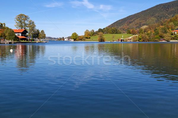 "Indian Summer on Lake ""Tegernsee"" in Bavaria, Germany Stock photo © haraldmuc"