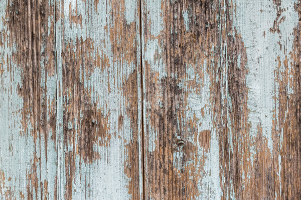 Wooden painted old fence as grunge background Stock photo © haraldmuc
