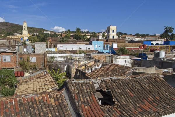 Kisváros sziget Kuba épület utazás városi Stock fotó © haraldmuc