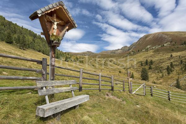 Santuario panchina montagna settentrionale Italia alberi Foto d'archivio © haraldmuc