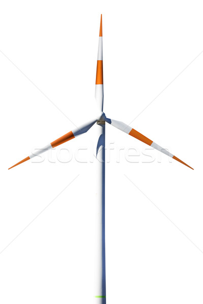 ストックフォト: 風力タービン · 白 · 技術 · 金属 · スペース · エネルギー