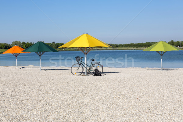 Sol paraguas lago Munich cielo Foto stock © haraldmuc