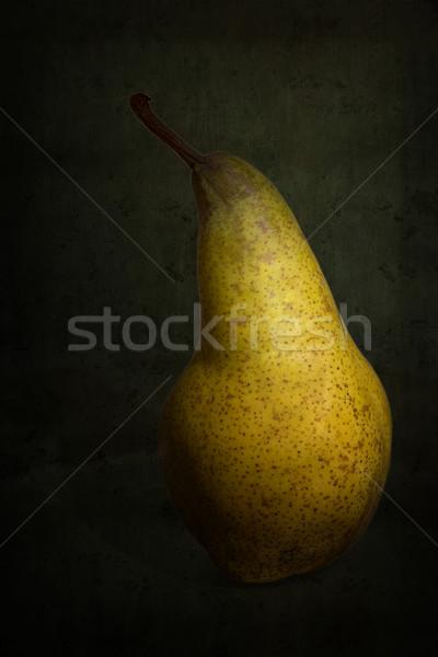 Single ripe pear on grunge background Stock photo © haraldmuc