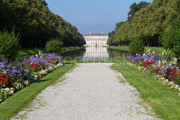 Canal palácio Munique Alemanha árvore castelo Foto stock © haraldmuc