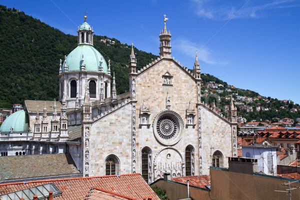 Medieval Como cathedral on Lake Como in Italy, Lombardy Stock photo © haraldmuc