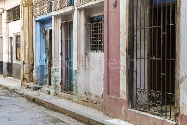 Shabby street in Havana, Cuba Stock photo © haraldmuc