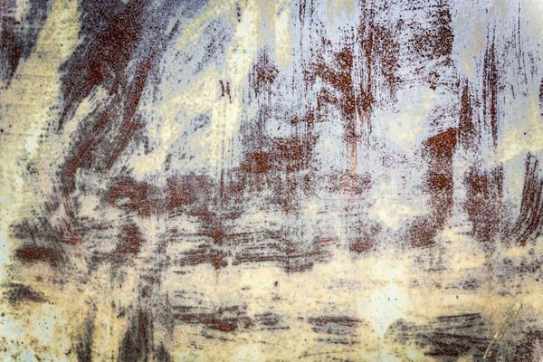 Arrugginito verniciato vecchio superficie metallica vernice urbana Foto d'archivio © haraldmuc