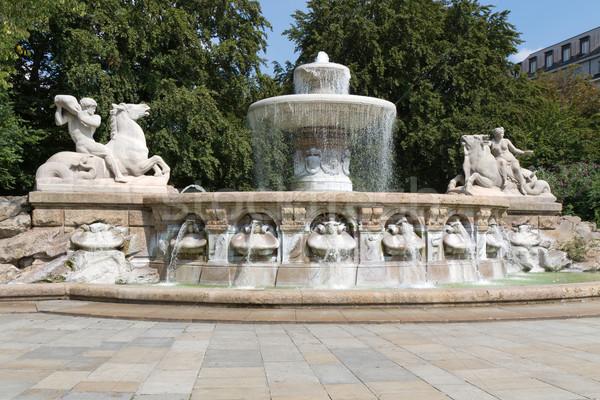 Historique fontaine Munich Allemagne printemps art Photo stock © haraldmuc