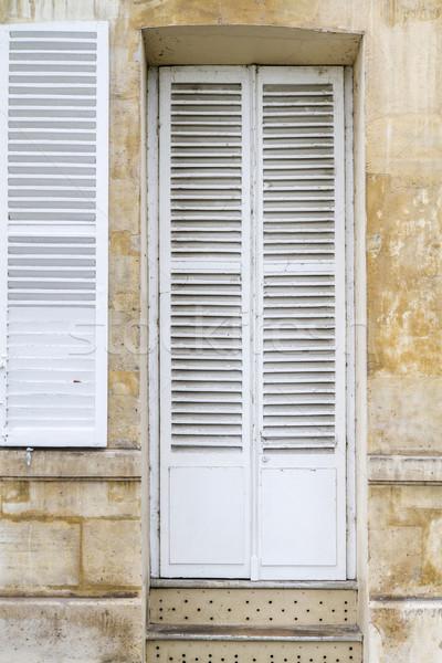 öreg fából készült ajtó Párizs Franciaország épület Stock fotó © haraldmuc