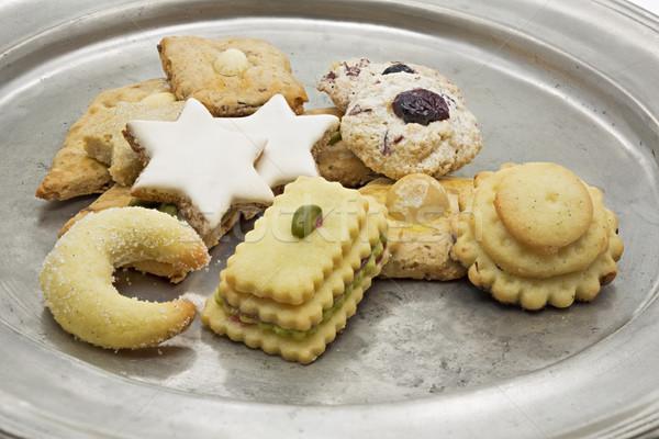 Natale cookies tin piatto alimentare home Foto d'archivio © haraldmuc