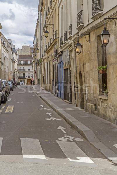 тихий сторона улице Париж Франция здании Сток-фото © haraldmuc