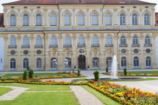 Castillo oeste lado Munich Alemania flores Foto stock © haraldmuc