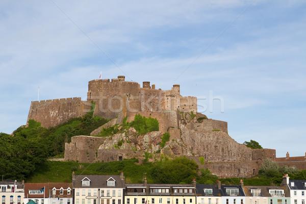 Château paysage pierre île Europe pays Photo stock © haraldmuc