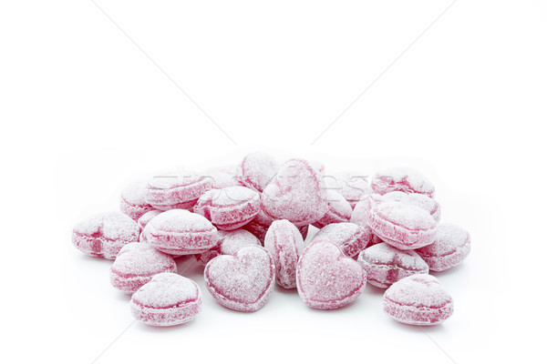 Heart shaped candies isolated on white Stock photo © haraldmuc