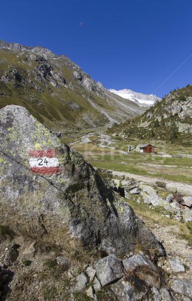 Hiking in the North Italian alps Stock photo © haraldmuc