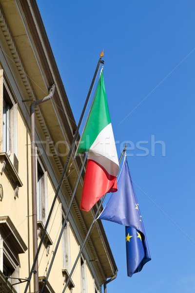 Правительство здании итальянский баннер Сток-фото © haraldmuc