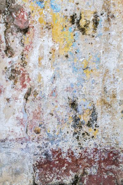 Weathered wall, seen on the island of Cuba Stock photo © haraldmuc
