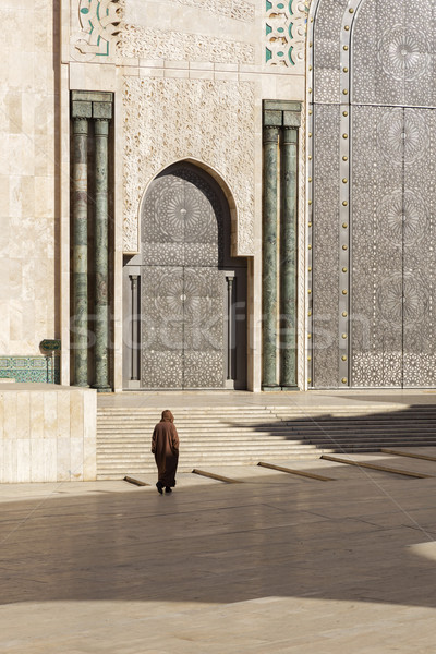 Mecset Casablanca Marokkó Afrika épület utazás Stock fotó © haraldmuc