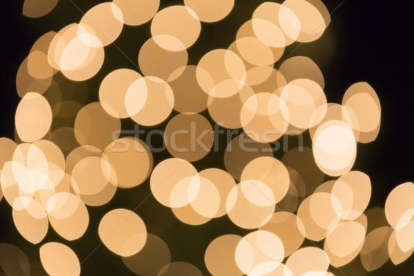 ünnepi bokeh lövés absztrakt fény narancs Stock fotó © haraldmuc