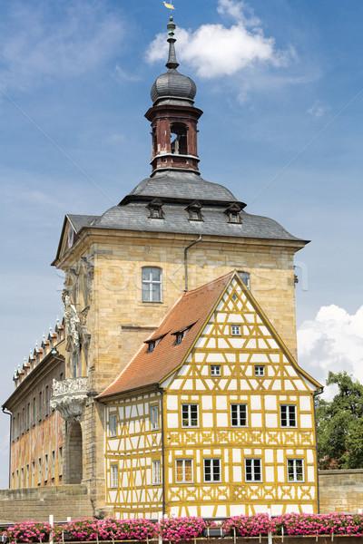 Oude binnenstad hal Duitsland gebouw home kunst Stockfoto © haraldmuc