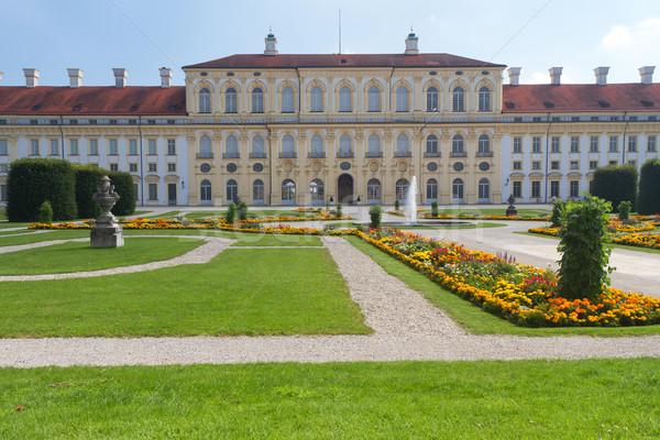 Castelo ocidente lado Munique Alemanha flores Foto stock © haraldmuc