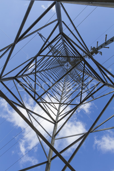 Electrical tower closeup Stock photo © haraldmuc