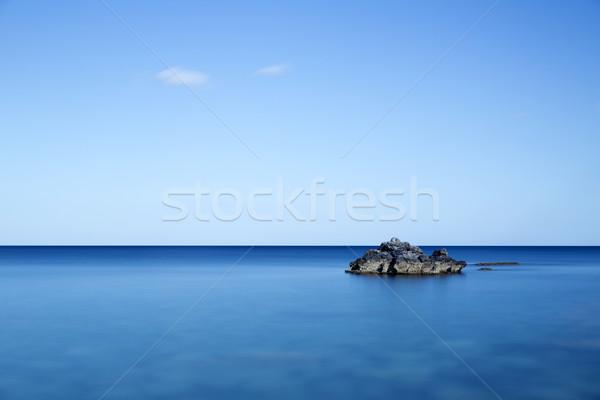 Rock in the sea, longtime exposure Stock photo © haraldmuc