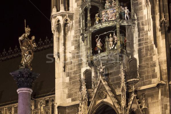 Munique novo cidade ouvir fachada noite Foto stock © haraldmuc