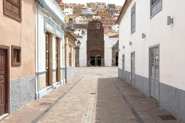 Scenic housing facades on Gomera island, Spain Stock photo © haraldmuc