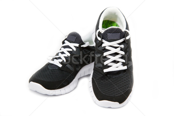 Sportu buty biały czarno białe tle sportowe Zdjęcia stock © haraldmuc