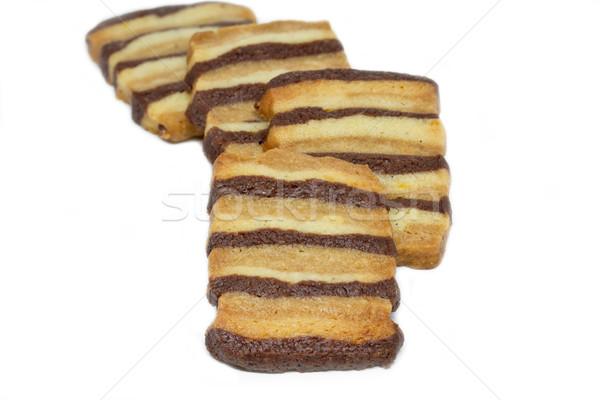 Christmas Cookies, Zebra Shortbread Stock photo © haraldmuc