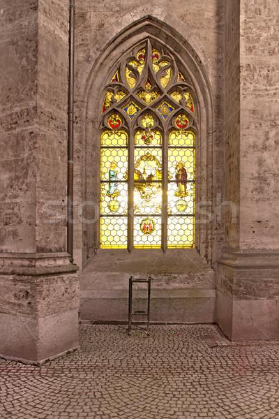 Histórico janela novo prefeitura Munique noite Foto stock © haraldmuc