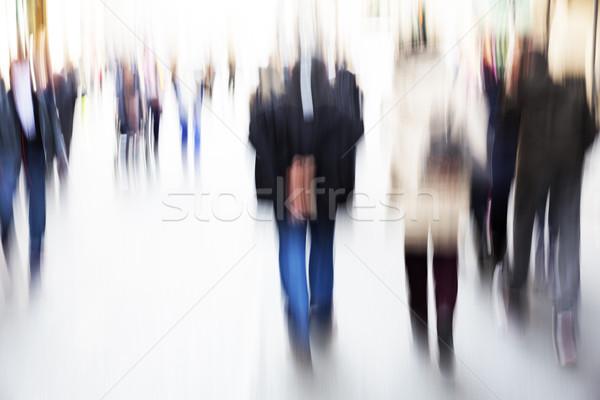 Mensen lopen rond straat business stad Stockfoto © haraldmuc