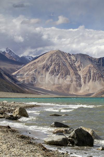 Tájkép tó India nyár természet sivatag Stock fotó © haraldmuc