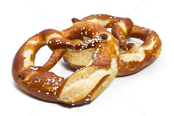 Typique bretzels blanche alimentaire fête manger Photo stock © haraldmuc