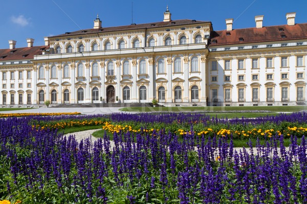 Castelo Munique Alemanha flores edifício arquitetura Foto stock © haraldmuc