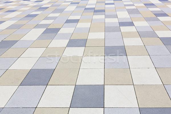 текстуры плиточные тротуар город землю аннотация Сток-фото © haraldmuc