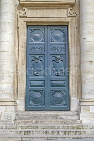 Historic door, seen in Paris, France Stock photo © haraldmuc
