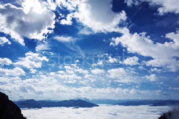 Fog banks in the German alps Stock photo © haraldmuc