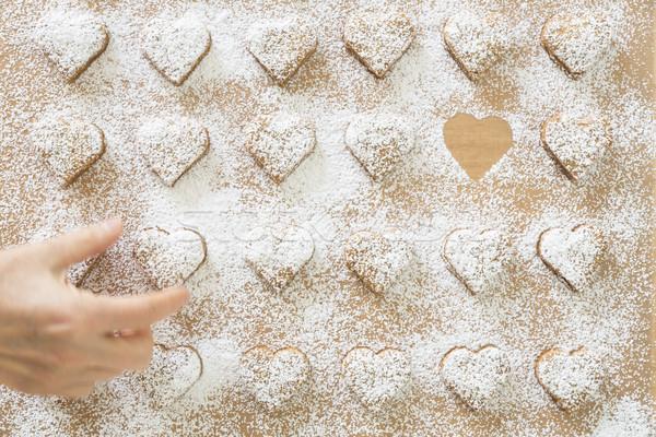 Noel kurabiye ev kek grup yemek Stok fotoğraf © haraldmuc