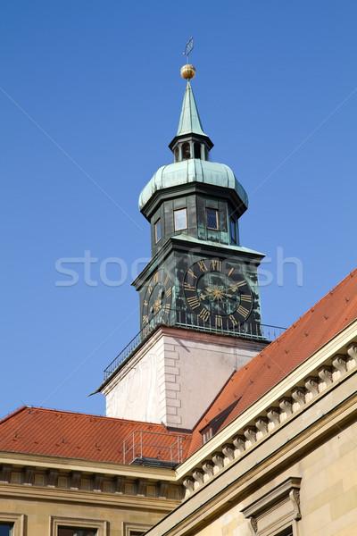Torre dentro edifícios Munique Alemanha céu Foto stock © haraldmuc