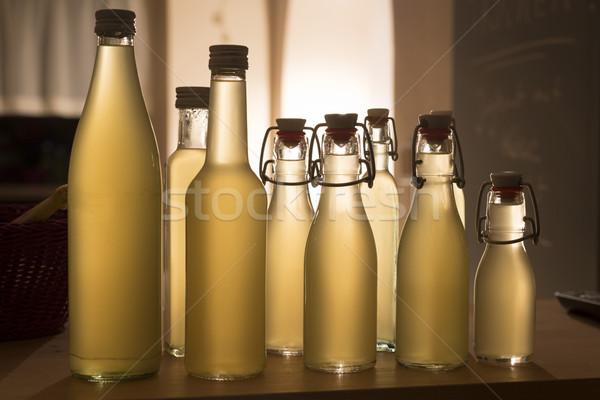 şişeler şurup ışık gıda cam şişe Stok fotoğraf © haraldmuc