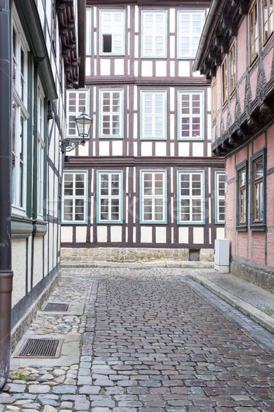 Huizen stad Duitsland hout stad architectuur Stockfoto © haraldmuc