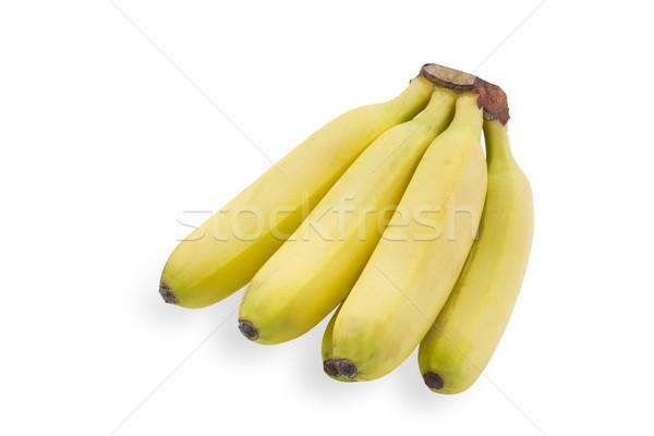 Pequeno bananas branco fruto pele banana Foto stock © haraldmuc